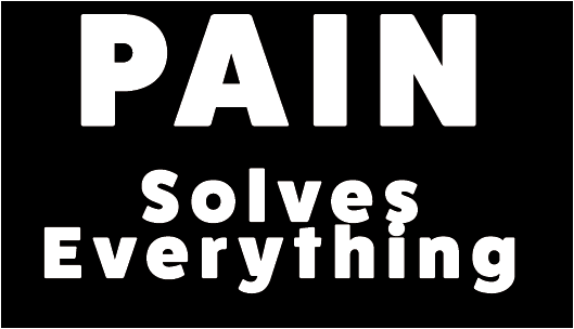 Pain Solves Sticker 2