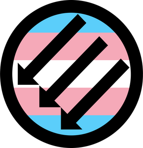 "Trans ANTIFA.  3"" Sticker"