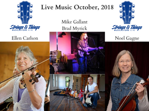 Live Shows in October featuring Strings & Things Music Instructors