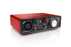 The Scarlett Solo is the perfect interface for singer/songwriters!