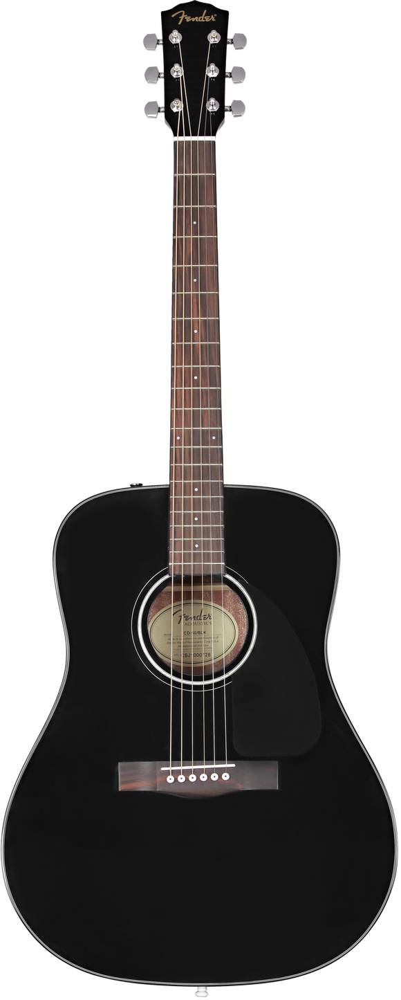 Fender CD-60 Dreadnought V3 Acoustic Guitar w/ Case - Black