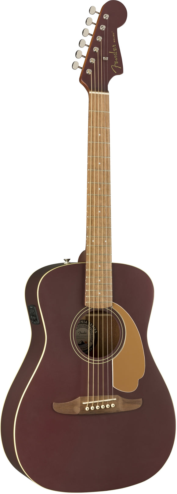 Fender Malibu Player Acoustic/Electric Guitar - Burgundy Satin