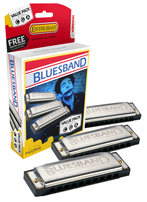 Hohner Bluesband Value Pack 3-Harp Set (C,G & A Harmonicas)