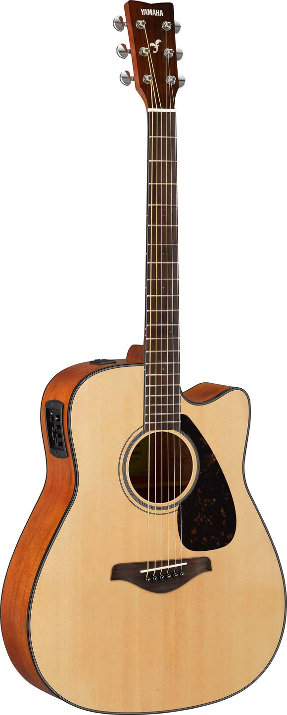 Yamaha FGX800C Acoustic/Electric Guitar with Cutaway - Natural