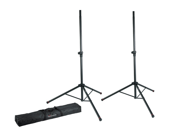 Gator Frameworks Speaker Stand pair with Carry Bag