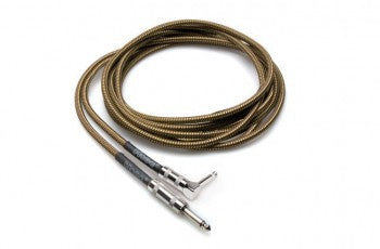Hosa GTR-518R Guitar Cable Tweed Right Angle 18Ft