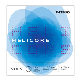D'Addario H310 Helicore 3/4 Scale Medium Tension Violin String Set