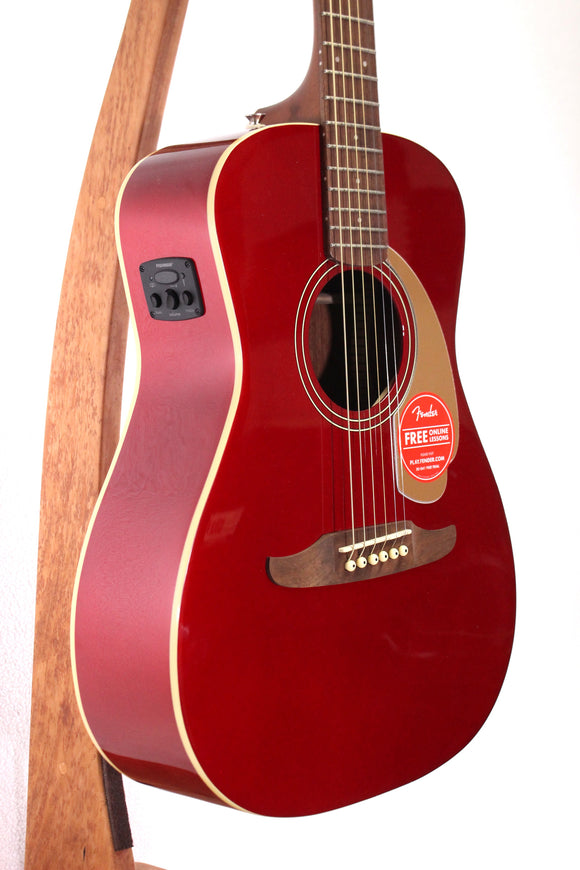 Fender Malibu Player Acoustic/Electric Guitar - Candy Apple Red
