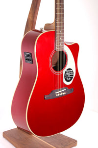 Fender Sonoran SCE Dreadnought Acoustic/Electric Guitar - Candy Apple Red