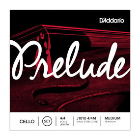 D'Addario J1010 4/4M Prelude 4/4 Scale Medium Tension Cello String Set