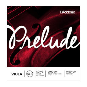D'Addario J910 LM Prelude Viola String Set, Long Scale, Medium Tension