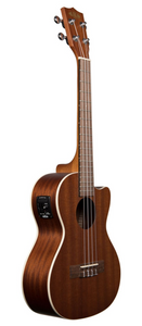 Kala KA-TE-C Satin Mahogany Tenor Acoustic/Electric Ukulele with Cutaway