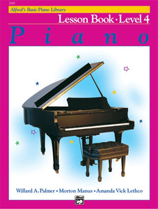 Alfred's Basic Piano Course Lesson Book - Level 4