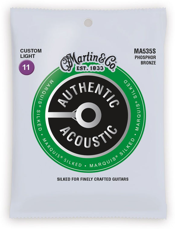 Martin MA535S Authentic Acoustic Marquis Phosphor Bronze Custom Light Acoustic Guitar Strings