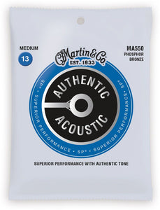 Martin MA550 Authentic Acoustic SP Medium Phosphor Bronze Acoustic Guitar Strings