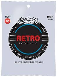 Martin MM12 Retro Light Acoustic Guitar Strings .012-.054