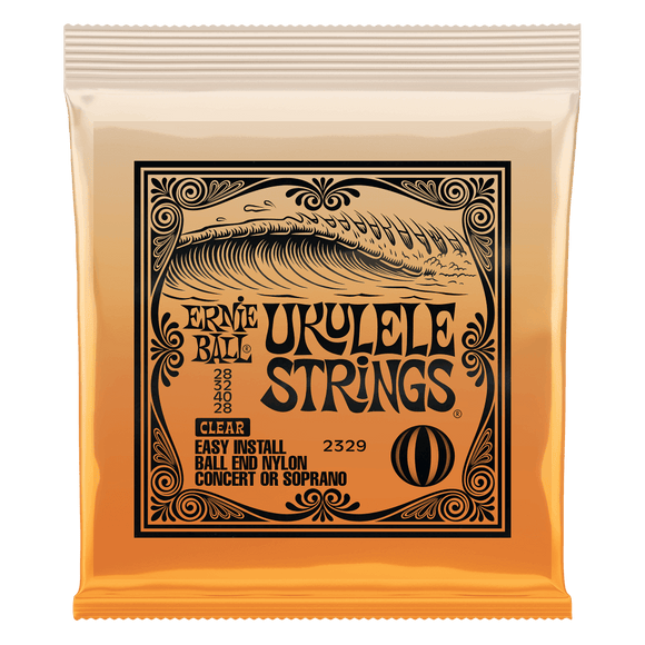 Ernie Ball Ukulele Ball End Nylon Clear Strings 2329
