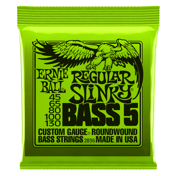 Ernie Ball Regular Slinky 5-String Bass Strings 45-130 2836