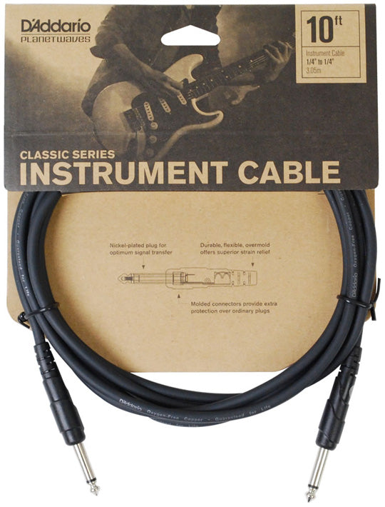 D'Addario Classic Series 10ft Instrument Cable
