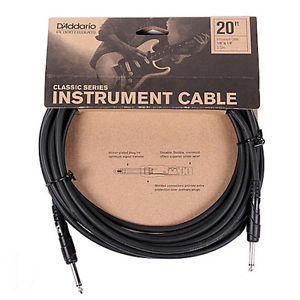 D'Addario Classic Series 20ft Instrument Cable