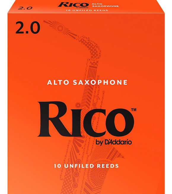 Rico Alto Saxophone Reeds 10-Pack - 2.0