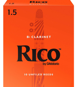 Rico Bb Clarinet Reeds 10-Pack - 1.5
