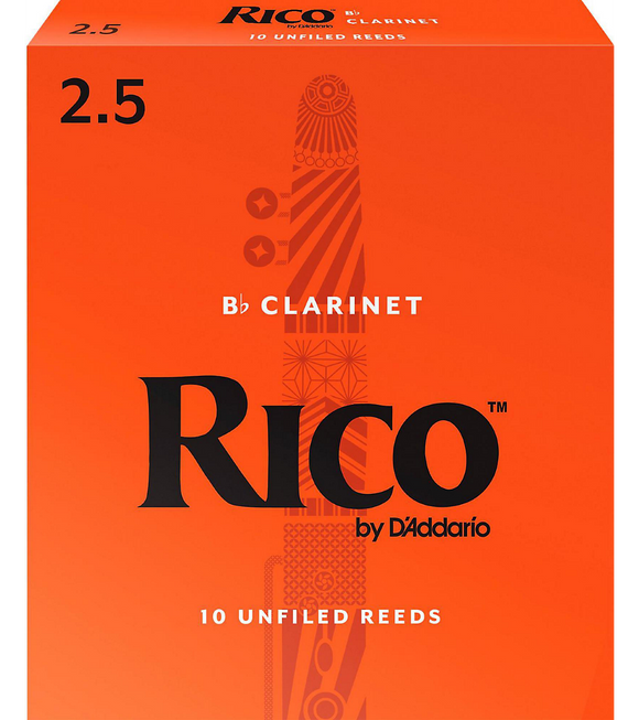 Rico Bb Clarinet Reeds 10-Pack - 2.5