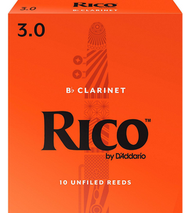 Rico Bb Clarinet Reeds 10-Pack - 3.0