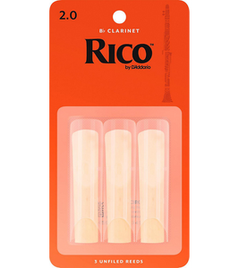 Rico Bb Clarinet Reeds 3-Pack - 2.0