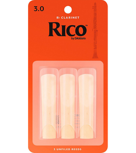 Rico Bb Clarinet Reeds 3-Pack - 3.0
