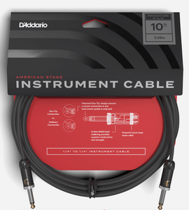 D'Addario American Stage Instrument Cable 10ft