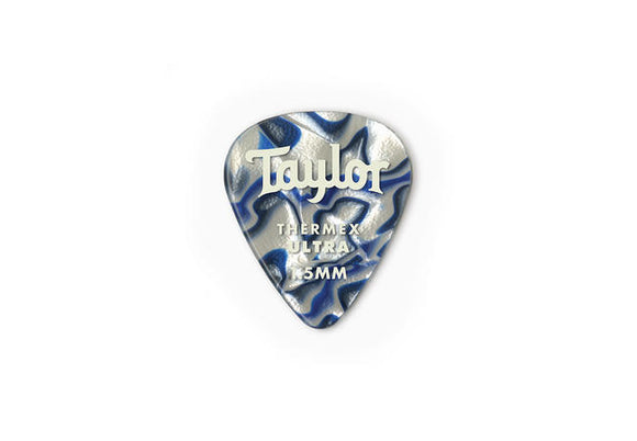 Taylor Premium 351 Thermex Ultra Picks Blue Swirl 1.25mm 6-Pack