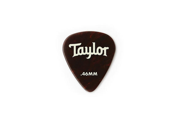 Taylor Celluloid 351 Picks Tortoise Shell 0.46mm 12-Pack