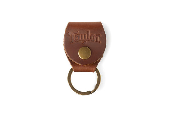 Taylor Key Ring with Pick Holder - Medium Brown
