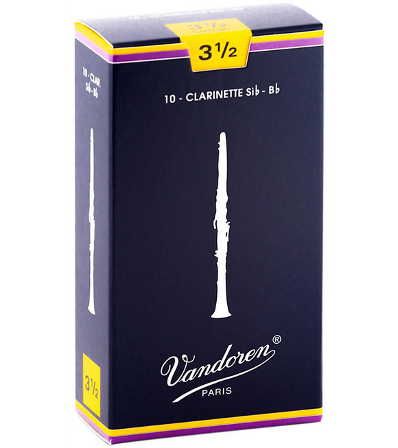 Vandoren Traditional Bb Clarinet Reeds Box of 10 - 3.5