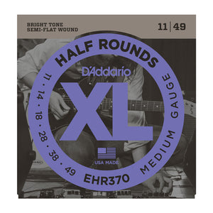D'Addario EHR370 Medium Half Rounds Electric Guitar Strings 11-49