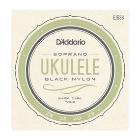 D'Addario EJ53S Pro-Arté Rectified Black Nylong Soprano Ukulele Strings
