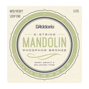 D'Addario EJ75 Phosphor Bronze Medium/Heavy Mandolin Strings 11.5-41