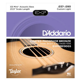D'Addario Taylor GS Mini Scale Acoustic Bass Strings EXPPBB190GS 37-90
