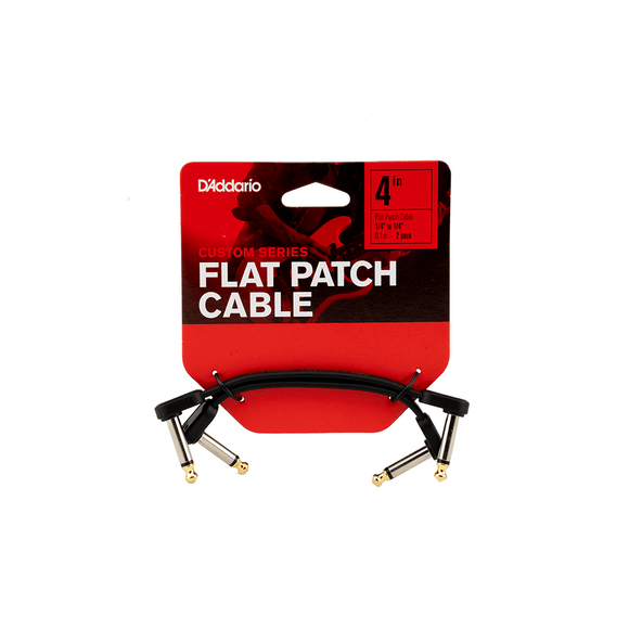 D'Addario Custom Series Flat Patch Cables 4 in. 2-Pack