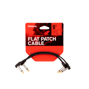 D'Addario Custom Series Flat Patch Cable 6 in. 2-Pack