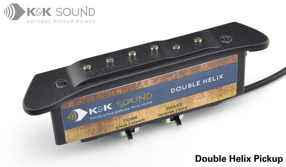 K&K Double Helix Solo Acoustic Guitar Soundhole Pickup
