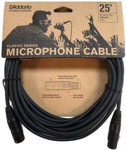 D'Addario Classic Series 25ft Microphone Cable