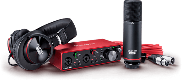 Focusrite Scarlett 2i2 Studio 3rd Gen Home Recording Bundle