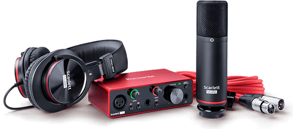 Focusrite Scarlett Solo Studio 3rd Gen Home Recording Studio Bundle