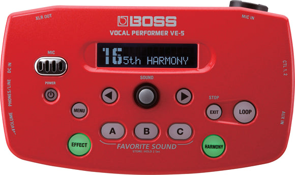 Boss VE-5 Vocal Performer - Red