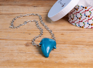 One by Trart Necklace Colmillo Azul