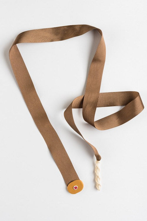 Necklace Ribbon - Brown