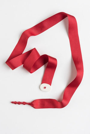 Trart Ribbon Necklace Red