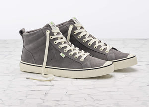 OCA High Stripe Charcoal Grey Suede Sneaker Women